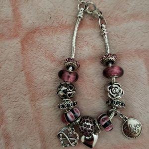 Forever Purple Charm Bracelet